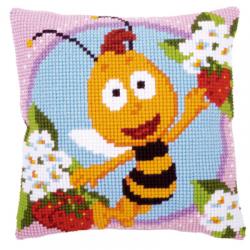 """Набор для вышивания Подушка """"Пчелка"""" 40х40см """"Vervaco"""""""