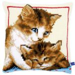 """Набор для вышивания Подушка """"Котята"""" 40х40см """"Vervaco"""""""