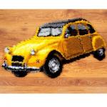 """Набор для вышивания Коврик """"Желтая машина"""" 69х41см """"Vervaco"""""""