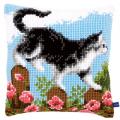"""Набор для вышивания Подушка """"Кошка на заборе"""" 40х40см """"Vervaco"""""""
