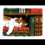 """Набор для вышивания Коврик """"Кот на книжной полке"""" 53х39см """"Vervaco"""""""