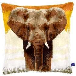 """Набор для вышивания Подушка """"Слон"""" 40х40см"""