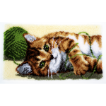 """Набор для вышивания Коврик """"Играющий котенок"""" 67х39см """"Vervaco"""""""