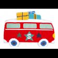 """Набор для вышивания Подушка фигурная """"Каникулы на автобусе"""" 57х40см """"Vervaco"""""""