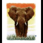 """Набор для вышивания Коврик """"Слон в саванне"""" 38х52см """"Vervaco"""""""