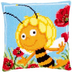 """Набор для вышивания Подушка """"Пчелка Майя в маках"""" 40х40см """"Vervaco"""""""