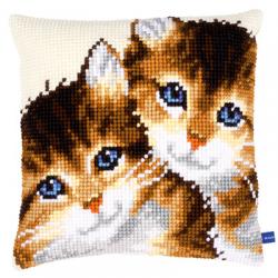 """Набор для вышивания Подушка """"Голубоглазые котята"""" 40х40см """"Vervaco"""""""