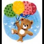 """Набор для вышивания Коврик """"Мишка с воздушными шариками"""" 55х62см """"Vervaco"""""""