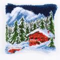 """Набор для вышивания Подушка """"Зимние горы"""" 40х40см """"Vervaco"""""""