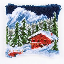 """Набор для вышивания Подушка """"Зимние горы"""" 40х40см"""