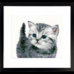 """Набор для вышивания """"Серый котёнок"""" """"Vervaco"""""""