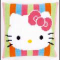 "Набор для вышивания Подушка ""Hello Kitty полоски"" 40х40см ""Vervaco"""