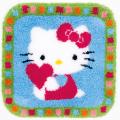 "Набор для вышивания Коврик ""Hello Kitty с сердечком"" 55х56см ""Vervaco"""