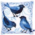 """Набор для вышивания Подушка """"Голубые птицы"""" 40х40см """"Vervaco"""""""