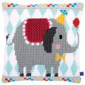 """Набор для вышивания Подушка """"Слон в цирке"""" 40х40см """"Vervaco"""""""