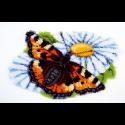 """Набор для вышивания Коврик """"Бабочка на ромашке"""" 69х44см """"Vervaco"""""""