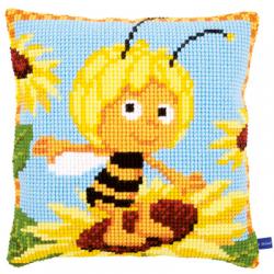 """Набор для вышивания Подушка """"Пчелка Майя в подсолнухах"""" 40х40см """"Vervaco"""""""