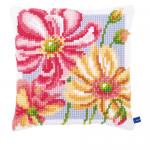 """Набор для вышивания Подушка """"Красочные цветы"""" 40х40см """"Vervaco"""""""