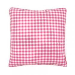 """Обратная сторона подушки c молнией 45х45см """"Розовая клетка"""""""