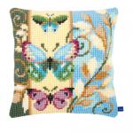 """Набор для вышивания Подушка """"Декоративные бабочки"""" 40х40см """"Vervaco"""""""