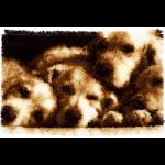 """Набор для вышивания Коврик """"Спящие собачки"""" 70х45см """"Vervaco"""""""