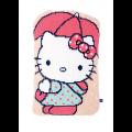 """Набор для вышивания Подушка фигурная """"Hello Kitty под зонтиком"""" 37х58см """"Vervaco"""""""