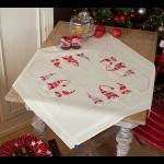 """Набор для вышивания Скатерть """"Три рождественских гнома"""" 80х80см """"Vervaco"""""""