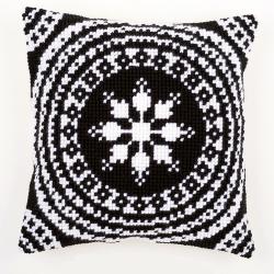 """Набор для вышивания Подушка """"Черное и белое"""" 40х40см """"Vervaco"""""""
