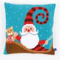 """Набор для вышивания Подушка """"Счастливый Санта"""" 40х40см """"Vervaco"""""""