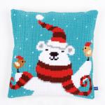 """Набор для вышивания Подушка """"Рождественский мишка"""" 40х40см """"Vervaco"""""""