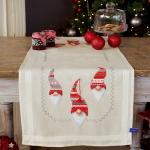 """Набор для вышивания Дорожка """"Три рождественских гнома"""" 40х100см """"Vervaco"""""""