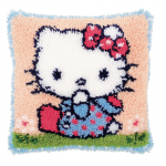 "Набор для вышивания Подушка ""Hello Kitty в голубом"" 40х40см ""Vervaco"""