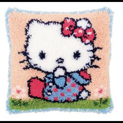 """Набор для вышивания Подушка """"Hello Kitty в голубом"""" 40х40см"""