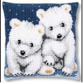 """Набор для вышивания Подушка """"Полярные медведи"""" 40х40см """"Vervaco"""""""