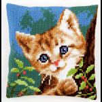 """Набор для вышивания Подушка """"Кот за деревом"""" 40х40см """"Vervaco"""""""