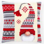 """Набор для вышивания Подушка """"Рождественский гном"""" 40х40см """"Vervaco"""""""
