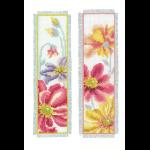 """Набор для вышивания Закладки """"Красочные цветы"""" 2шт """"Vervaco"""""""