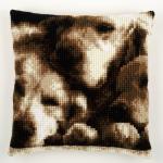 """Набор для вышивания Подушка """"Спящие собаки"""" 40х40см """"Vervaco"""""""