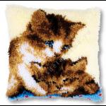 "Набор для вышивания Подушка ""Два котёнка"" 40х40см ""Vervaco"""