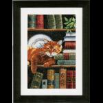 """Набор для вышивания """"Кот и книги"""" """"Vervaco"""""""
