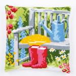 """Набор для вышивания Подушка """"Мой прекрасный сад"""" 40х40см """"Vervaco"""""""