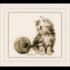 """Набор для вышивания """"Котёнок и клубок"""" """"Vervaco"""""""