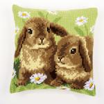 """Набор для вышивания Подушка """"Два кролика"""" 40х40см """"Vervaco"""""""