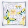 """Набор для вышивания Подушка """"Бабочки и цветы"""" 40х40см """"Vervaco"""""""