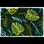 """Набор для вышивания Коврик """"Ботанические листья"""" 70х45см """"Vervaco"""""""