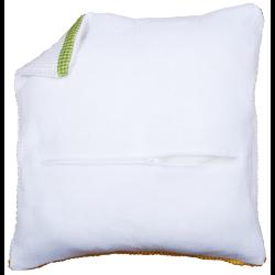 Обратная сторона подушки c молнией белая 45х45см