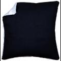 """Обратная сторона подушки без молнии чёрная 45х45см """"Vervaco"""""""
