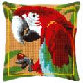 """Набор для вышивания Подушка """"Красный попугай"""" 40х40см """"Vervaco"""""""