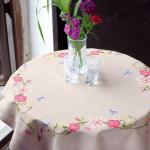 """Набор для вышивания Скатерть """"Розовые цветы и бабочки"""" 80х80см """"Vervaco"""""""