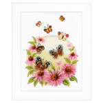 """Набор для вышивания """"Эхинацея и бабочки"""" """"Vervaco"""""""